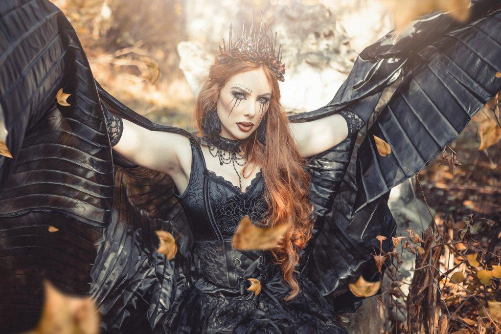 Ein Fantasy - Shooting mit einem Schwarzem Engel